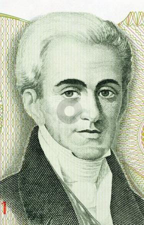 Governor Ioannis Kapodistrias stock photo, Governor Kapodistrias on 500 Drachmes 1983 banknote from Greece. Ioannis Kapodistrias (1776-1831)  was the first head of state of independent Greece. by Georgios Kollidas