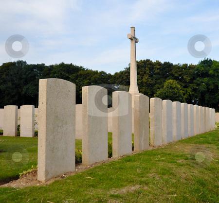 Maricourt cross stock photo, Cross at Maricourt war cemetery entrance, France by Jaime Pharr