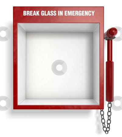 Break glass in emergency stock photo break glass in emergency stock photo an empty fire extinguisher emergency box easily place maxwellsz