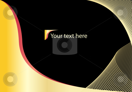 Abstract black and gold background with copyspace stock vector clipart, Abstract black and gold background with copyspace by toots77