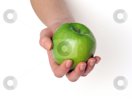 Apple stock photo, Apple in hand by Adam Radosavljevic