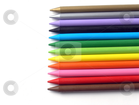 Artistic or children crayons stock photo, Colored crayons by Adam Radosavljevic