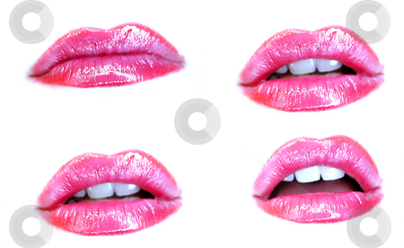 Open and Close stock photo, Close and open mouth by Adam Radosavljevic
