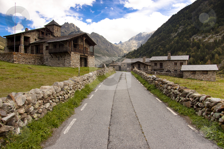 Village - Pyrenees stock photo, Small stony village in Pyrenees - Andorra. Summer day. by Tomasz Parys