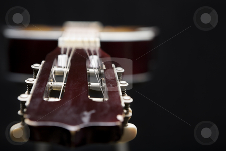 Classic guitar stock photo, Classic guitar in dark by Rudyanto Wijaya