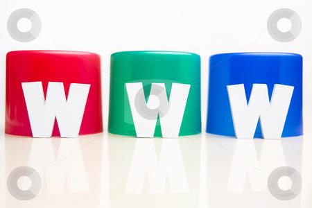 WWW in front of RGB tube stock photo, WWW alphabet block placed in front of RGB tube by Rudyanto Wijaya