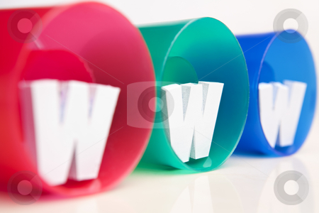 WWW inside RGB tube stock photo, WWW inside RGB tube close up shot from side by Rudyanto Wijaya