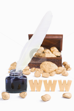 Writing in WWW era (blog) bring wealth concept stock photo, Writing in WWW era (blog) bring wealth concept by Rudyanto Wijaya