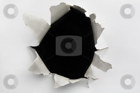 Empty hole on cracked wall stock photo, Empty hole on cracked wall by Rudyanto Wijaya