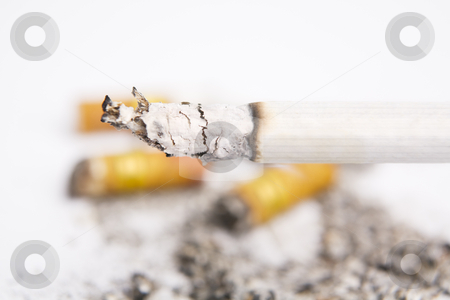 Burning cigarettes on ashtray stock photo, Burning cigarettes on ashtray ***PS: shallow depth of field*** by Rudyanto Wijaya