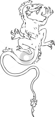Dragon An illustration of a dragon stock vector clipart, Dragon An illustration of a dragon by Christos Georghiou