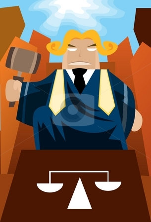 The Judgement stock photo, Image of a judge who is sitting on the throne and judge the case. by Verapol Chaiyapin