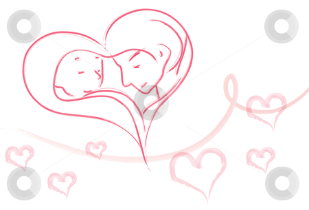 Eternal love stock vector clipart, Image of a couple who are deeply in love by Verapol Chaiyapin