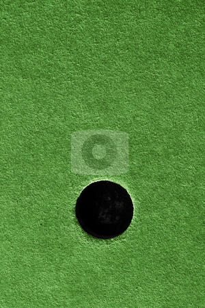 Crazy golf course hole with artificial grass. stock photo, Crazy golf course hole with artificial grass. by Stephen Rees