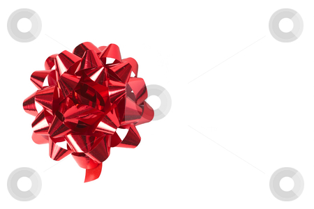 Red bow on white stock photo, Red bow isolated on white background with copy space by Elena Weber (nee Talberg)