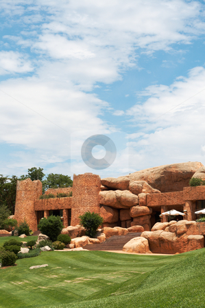 Luxurious architecture on golf course stock photo, Luxurious architecture on golf course in South Africa by Elena Weber (nee Talberg)