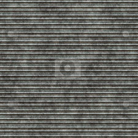 Dirty metallic lines stock photo, Seamless 3d texture of grunge horizontal metal plate by Wino Evertz