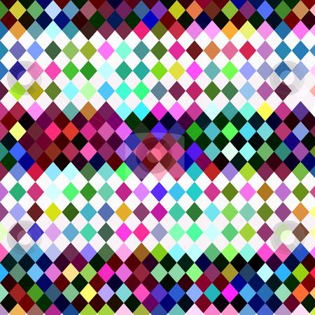 Harlequin checkered pattern stock photo, Texture of bright random colored square checks by Wino Evertz