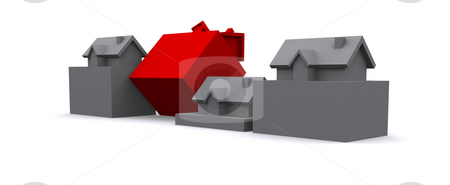 House stock photo, A 3d maded house on a white backbround by Jan Schering