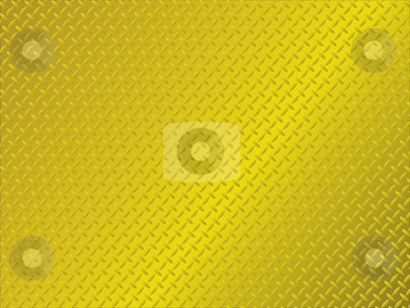 Metal anti slip gold stock vector clipart, Golden metal background with anti slip surface pattern by Michael Travers