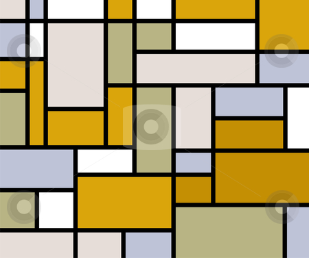 Mondrian goes retro print stock vector clipart, Mondrian inspired pastel colors background by Cienpies Design