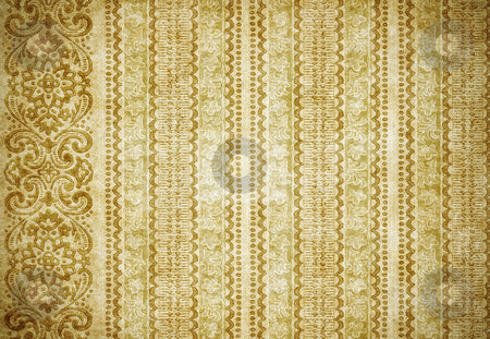 Old wallpaper stock photo, Great retro background of some old dirty and grungy wallpaper by Phil Morley