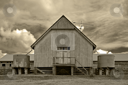 Old barn building stock photo, Great image of an old barn on the farm by Phil Morley