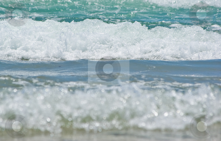 Beach waves stock photo, Beautiful waves come into the shore by Phil Morley