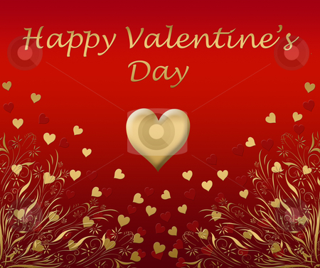 Valentines card stock photo, A beautiful valentines card with love hearts by Phil Morley