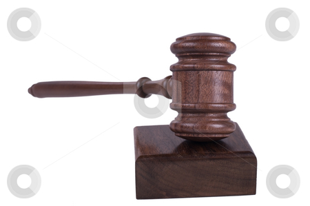 Gavel on white background stock photo, Image of a judges gavel isolated on white background by Phil Morley