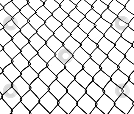 Chainlink fence.  stock vector clipart, Chainlink fence. Seamless. White background. Vector available by Cienpies Design