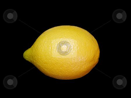 Lemon on black. stock photo, Fresh shiny lemon on black background. by Liana Bukhtyyarova
