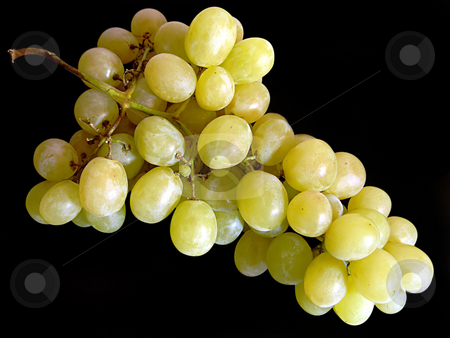 Bunch of grapes. stock photo, Bunch of grapes on black. by Liana Bukhtyyarova