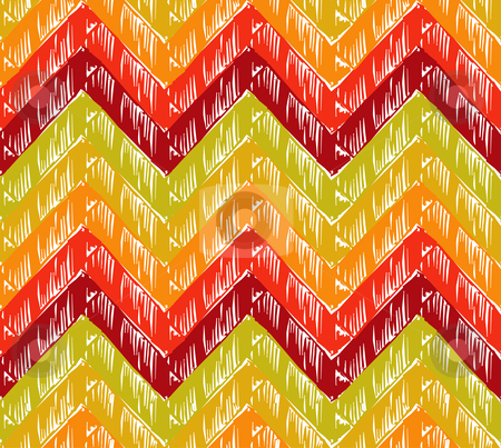 Zigzag background stock vector clipart, Zigzag striped background. Warm tones. Vector available by Cienpies Design