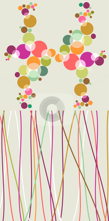Pop colorful bubbles and lines backgrounds. stock vector clipart, Pop style bubbles and lines patterns. Vector avaliable by Cienpies Design