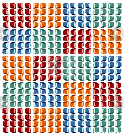 Cubes pattern stock vector clipart, Colorful cubes pattern on white background. Vector available by Cienpies Design