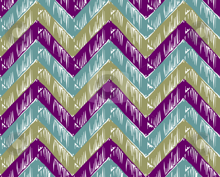 Zigzag striped background stock vector clipart, Zigzag striped background. Cold tones. Vector available by Cienpies Design