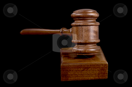 Gavel on black stock photo, Great image of a judges or auctioneers gavel on black background by Phil Morley