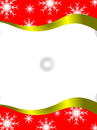 Vector christmas stationary  stock vector clipart, Vector christmas stationary with top and bottom christmas borders with room for a letter by Mike Price