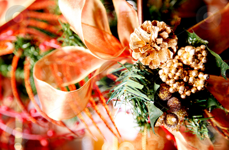 Ornaments stock photo, Christmas ornaments with green and red colors by Giuseppe Ramos