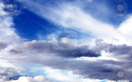 Blue sky stock photo, A beautiful evening sky with clouds. nature image by Giuseppe Ramos