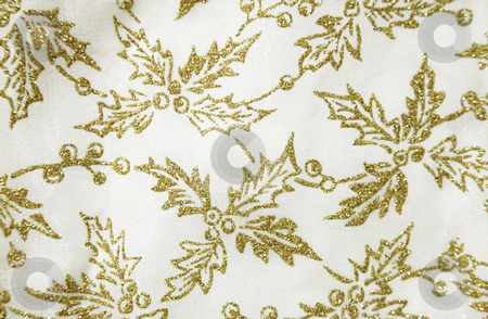Background stock photo, Gold flower over white background. Textile Texture by Giuseppe Ramos
