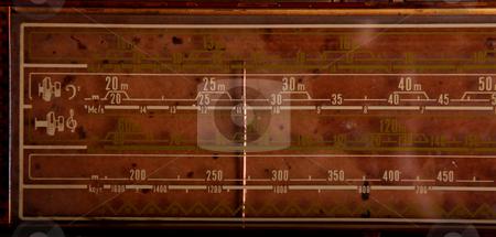 Radio stock photo, An old radio dial. Retro iand grunge mage by Giuseppe Ramos