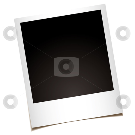 Single instant photo stock vector clipart, Single instant photo with black space with room to add your own image by Michael Travers