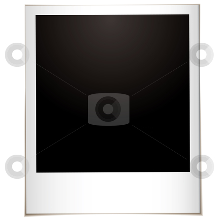 Single instant straight stock vector clipart, Single instant photograph with white border and space for your own image by Michael Travers