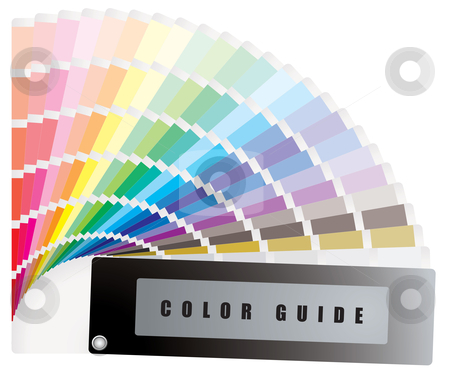Color guide stock vector clipart, Color guide swatch with rainbow range of colours by Michael Travers
