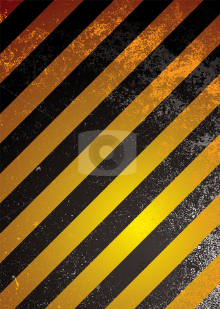 Alert warning orange stock vector clipart, Grunge warning background with orange and black stripes by Michael Travers