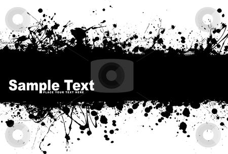 Grunge banner ink stock vector clipart, Black ink splat background with room to add your own text by Michael Travers