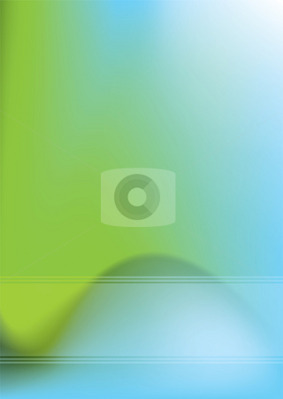 Hump back hill stock photo, Abstract background with blue and green blurred effect by Michael Travers
