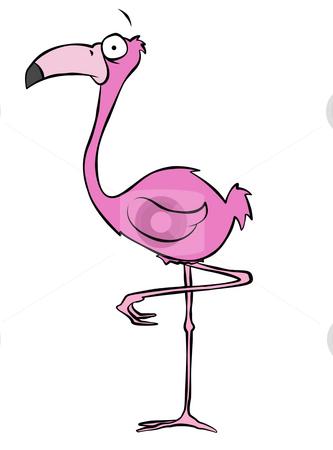 Pink Flamingo Cartoon